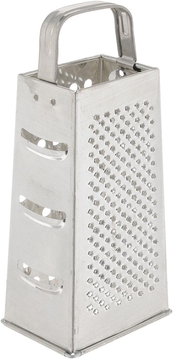 Терка Axentia, высота 24 см200921Четырехгранная терка Axentia, выполненная из высококачественной нержавеющей стали с зеркальной полировкой, станет незаменимым атрибутом приготовления пищи. Терка оснащена удобной ручкой. На одном изделии представлены четыре вида терок - крупная, мелкая, фигурная и нарезка ломтиками. Современный стильный дизайн позволит терке занять достойное место на вашей кухне. Высота терки: 24 см. Размер основания терки: 10,5 х 8 см.