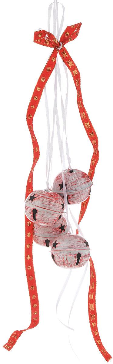 Украшение новогоднее подвесное House & Holder Бубенчики, цвет: белый, красный, золотистый, диаметр 5 смDP-C04-39512Новогоднее подвесное украшение House & Holder Бубенчики выполнено из металла. Изделие оформлено перфорацией. С помощью специальной петельки украшение можно повесить в любом понравившемся вам месте. Но, конечно, удачнее всего оно будет смотреться на праздничной елке. Елочная игрушка - символ Нового года. Она несет в себе волшебство и красоту праздника. Создайте в своем доме атмосферу веселья и радости, украшая новогоднюю елку нарядными игрушками, которые будут из года в год накапливать теплоту воспоминаний. Диаметр: 5 см. Количество бубенчиков: 4 шт.