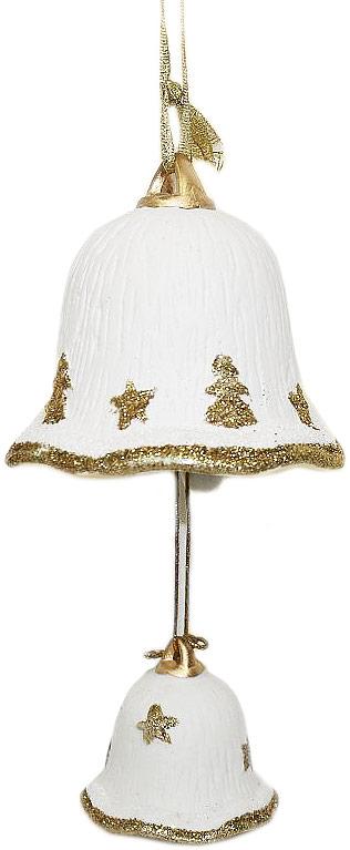 Украшение декоративное подвесное Lillo Колокольчик, высота 8,5 смDE2-0426Декоративное подвесное украшение Lillo Колокольчик выполнено из керамики в виде колокольчиков. Изделие оформлено блестками. С помощью специальной петельки украшение можно повесить в любом понравившемся вам месте. Елочная игрушка - символ Нового года. Она несет в себе волшебство и красоту праздника. Создайте в своем доме атмосферу веселья и радости, украшая Размеры: 9,2 х 9,2 х 8,5 см.