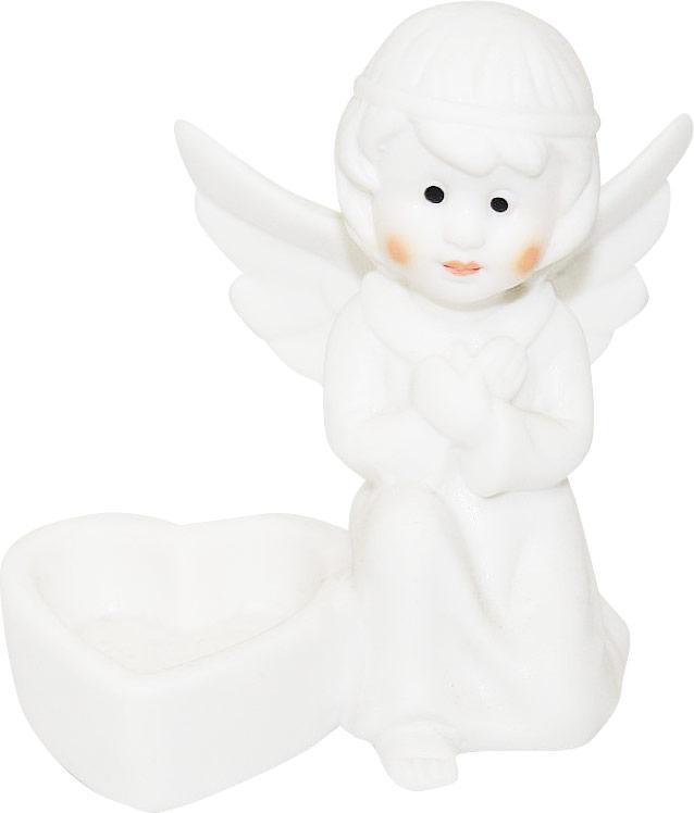 Подсвечник Lillo Ангел, высота 9,4 смYLQ 10771Подсвечник Lillo Ангел, выполненный из керамики, украсит интерьер вашего дома или офиса. Оригинальный дизайн и красочное исполнение создадут праздничное настроение. Подсвечник выполнен в форме ангела, сидящего около небольшой чашечки. Вы можете поставить подсвечник в любом месте, где он будет удачно смотреться, и радовать глаз. Кроме того - это отличный вариант подарка для ваших близких и друзей в преддверии Нового года.