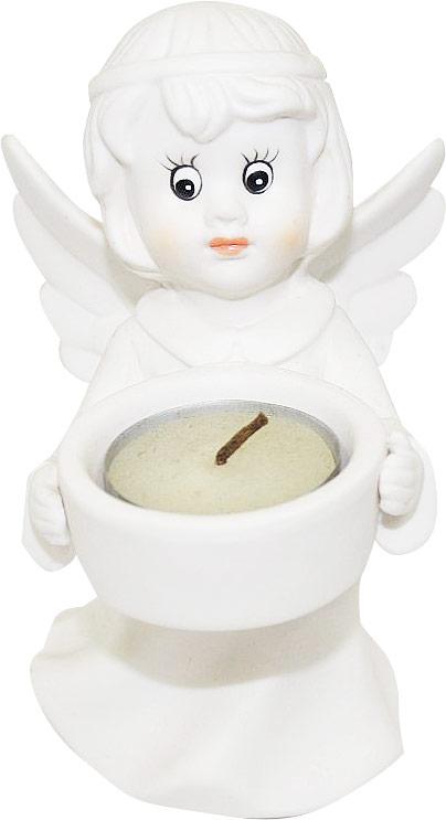 Подсвечник Lillo Ангел, со свечой, высота 14 смYLQ 10760Подсвечник Lillo Ангел, выполненный из керамики, украсит интерьер вашего дома или офиса. Оригинальный дизайн и красочное исполнение создадут праздничное настроение. Подсвечник выполнен в форме ангела, держащего в руках небольшую чашечку. Внутри чашечки - парафиновая свеча. Вы можете поставить подсвечник в любом месте, где он будет удачно смотреться, и радовать глаз. Кроме того - это отличный вариант подарка для ваших близких и друзей в преддверии Нового года.