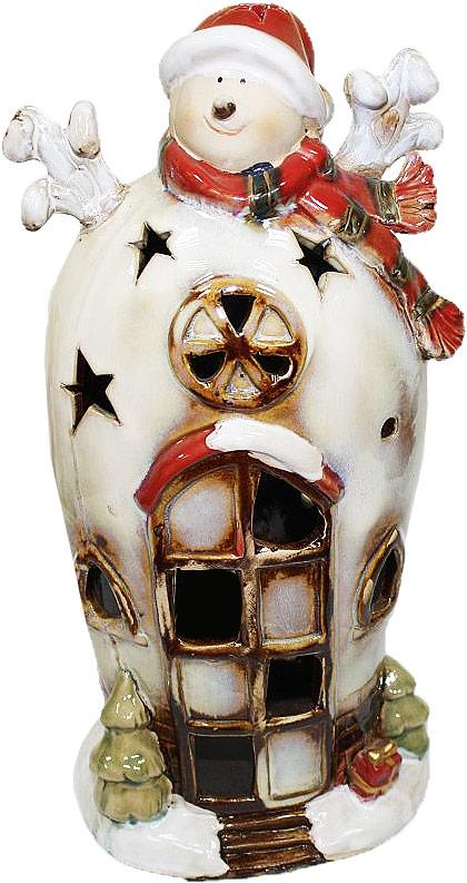 Подсвечник Lillo Снеговик, высота 28,3 смLil 84001Подсвечник Lillo «Снеговик», выполненный из керамики, украсит интерьер вашего дома или офиса. Оригинальный дизайн и красочное исполнение создадут праздничное настроение. Подсвечник выполнен в форме снеговика. Вы можете поставить подсвечник в любом месте, где он будет удачно смотреться, и радовать глаз. Кроме того - это отличный вариант подарка для ваших близких и друзей в преддверии Нового года.