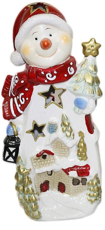 Подсвечник Lillo, высота 24 см. 2011120820111208Подсвечник «Lillo», выполненный из керамики, украсит интерьер вашего дома или офиса. Оригинальный дизайн и красочное исполнение создадут праздничное настроение. Подсвечник выполнен в форме снеговика. Вы можете поставить подсвечник в любом месте, где он будет удачно смотреться, и радовать глаз. Кроме того - это отличный вариант подарка для ваших близких и друзей в преддверии Нового года.