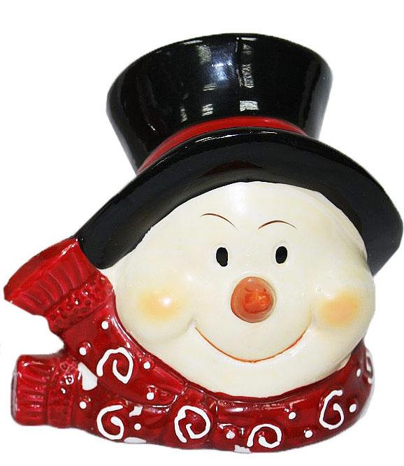 Подсвечник Lillo, цвет: красный, белый, черный, высота 12,5 см20111206Подсвечник Lillo, выполненный из керамики, украсит интерьер вашего дома или офиса. Оригинальный дизайн и красочное исполнение создадут праздничное настроение. Подсвечник выполнен в форме снеговика. Вы можете поставить подсвечник в любом месте, где он будет удачно смотреться, и радовать глаз. Кроме того - это отличный вариант подарка для ваших близких и друзей в преддверии Нового года.