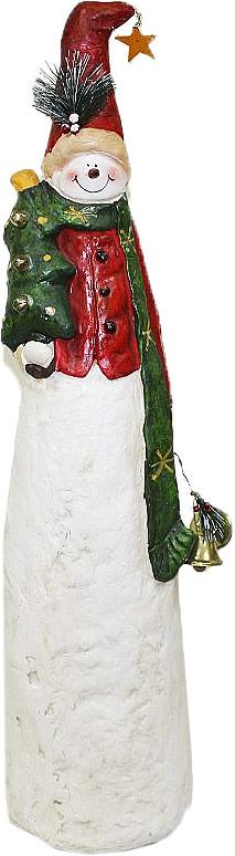 Фигурка декоративная Lillo Снеговик, высота 83 см20111308Декоративная фигурка Lillo Снеговик изготовлена из высококачественной керамики. Вы можете поставить фигурку в любом месте, где она будет удачно смотреться и радовать глаз. Сувенир отлично подойдет в качестве подарка близким или друзьям.