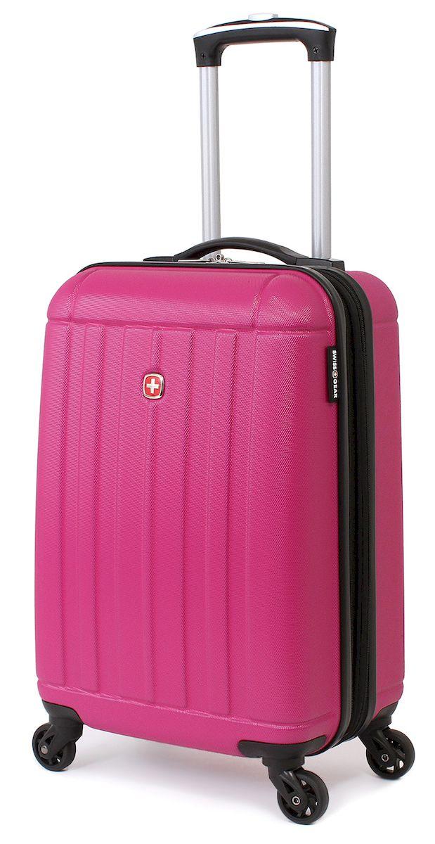 Чемодан SwissGear Uster, цвет: розовый, 37 л. 515446297808154Чемодан 6297808154 SwissGear Uster, розовый, АБС-пластик, 34x22x48 см, 37 л Дорожный чемодан USTER прекрасный выбор для путешественников! Чемоданы серии USTER сделаны из АБС-пластика, преимущества которого заключаются в высокой прочности при минимальном весе. Да, этот чемодан действительно легок и станет отличным компаньоном в дороге даже для хрупких, миниатюрных дам! Удобная телескопическая ручка, сделанная из авиационного алюминия, целых четыре маневренных колесика, вращающийся на 360 градусов, и наличие сразу двух ручек (сверху и сбоку) делают этот чемодан поистине эргономичным. Внутренняя эргономика также свидетельствует о благородном швейцарском происхождении. В основном пространстве имеется отделение, с закрывающейся на молнию сетчатой стенкой, а для небольших аксессуаров имеется съемный несессер. Надежно зафиксировать ваши вещи в чемодане помогут внутренние перекрестные ремни с удобным замком. Характеристики: Застежки молнии основного отделения чемодана...