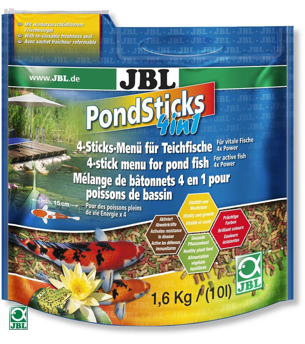 JBL Pond Sticks 4in1 Комплексный корм в форме палочек для всех прудовых рыб, содержащий 4 различных вида палочек разного цвета, удобный пакет 10 лJBL4015300JBL Pond Sticks 4in1 - Комплексный корм в форме палочек для всех прудовых рыб, содержащий 4 различных вида палочек разного цвета, удобный пакет 10 л
