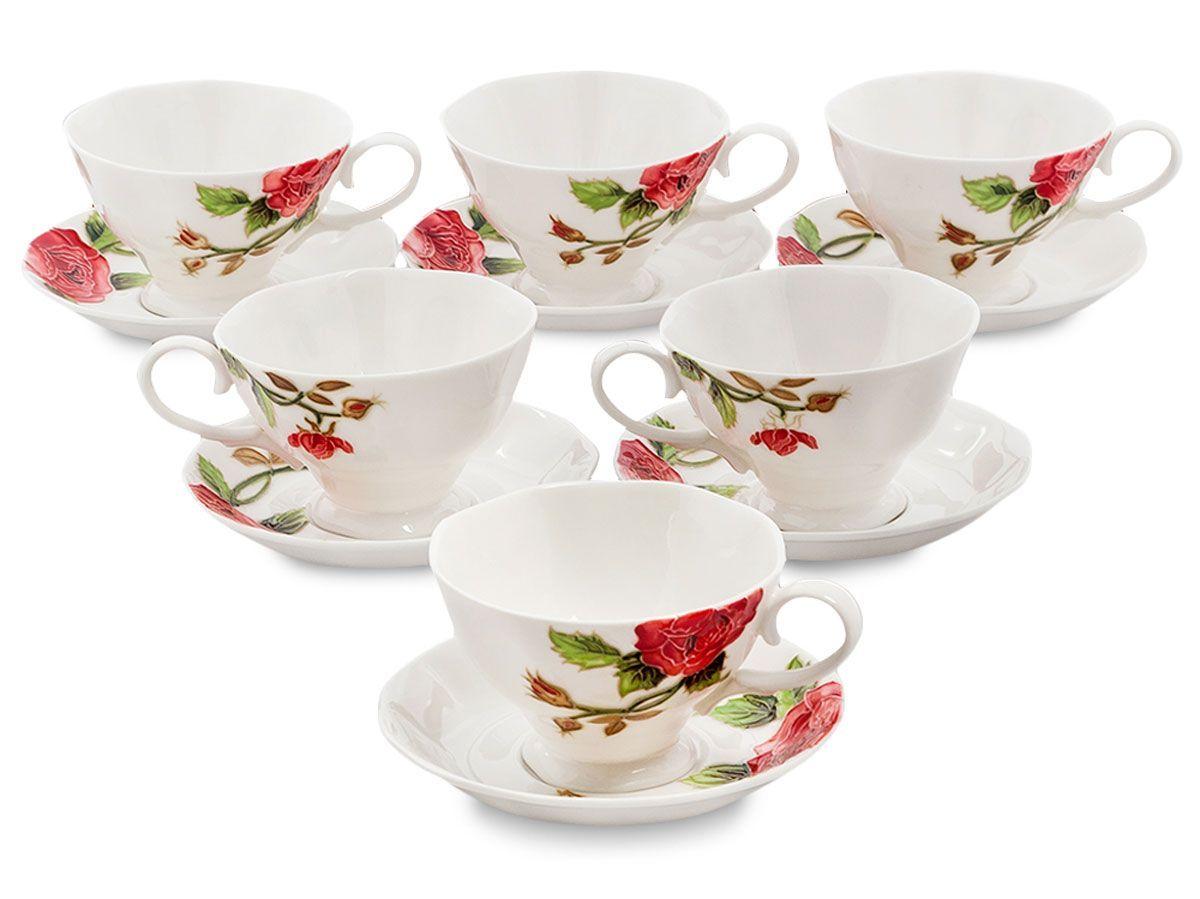 Набор чайный Pavone Рафаэлло. Роза, 6 предметов. 451580451580Объем чашки: 200 мл Диаметр блюдца: 14 см.