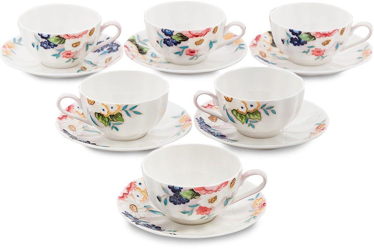 Набор чайный Pavone Королева Камилла, 6 предметов. 451591451591Объем чашки: 150 мл Диаметр блюдца: 14 см.