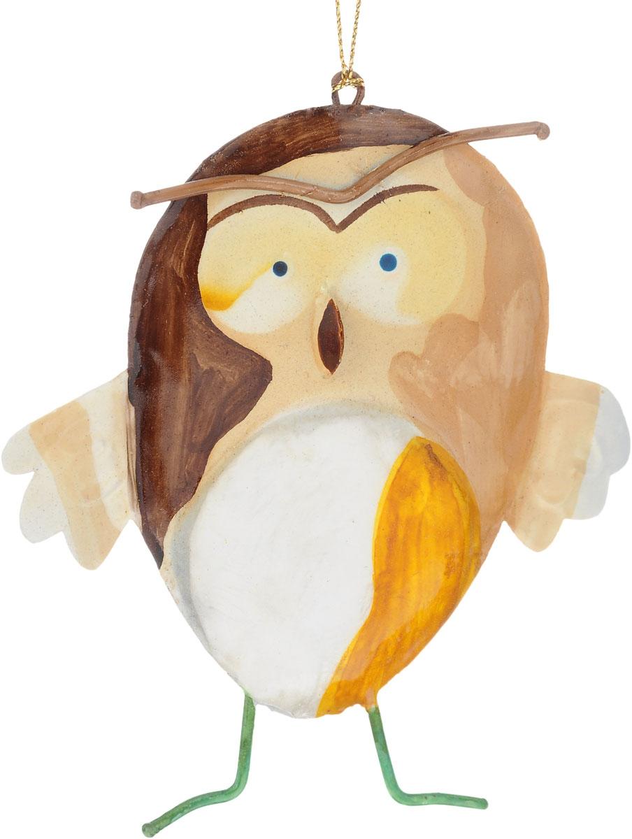 Украшение новогоднее подвесное Winter Wings Сова, 10,5 х 1 х 12 смN181610Новогоднее подвесное украшение Winter Wings Сова выполнено из металла. С помощью специальной петельки украшение можно повесить в любом понравившемся вам месте. Но, конечно, удачнее всего оно будет смотреться на праздничной елке. Елочная игрушка - символ Нового года. Она несет в себе волшебство и красоту праздника. Создайте в своем доме атмосферу веселья и радости, украшая новогоднюю елку нарядными игрушками, которые будут из года в год накапливать теплоту воспоминаний. Размер: 10,5 х 1 х 12 см.