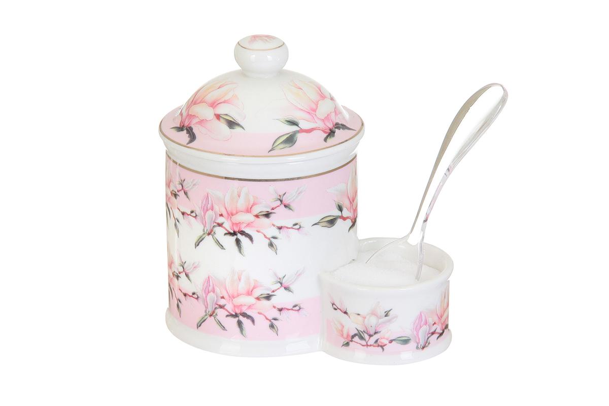 Банка для соли Elan Gallery Орхидея на розовом, с ложкой, 350 мл503785Банка для соли Elan Gallery Орхидея на розовом, изготовленная из высококачественной керамики, подойдет не только для соли, но и для сахара, специй и даже меда. Изделие имеет изысканный внешний вид. В комплект входит пластиковая ложечка. Такая банка для соли стильно оформит интерьер кухни. Не рекомендуется использовать абразивные моющие средства. Не использовать в микроволновой печи. Размер банки: 13 х 8,5 х 13,5 см.