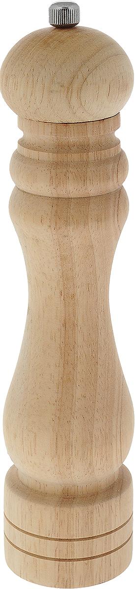 Мельница для перца Metaltex, высота 26 см58.60.26Мельница для перца Metaltex изготовлена из дерева и стали. Жернова в основании перцемолки изготовлены из керамики. Мельница легка в использовании, стоит только покрутить верхнюю часть мельницы, и вы с легкостью сможете поперчить по своему вкусу любое блюдо. Высота: 26 см. Диаметр основания емкости: 5,5 см.