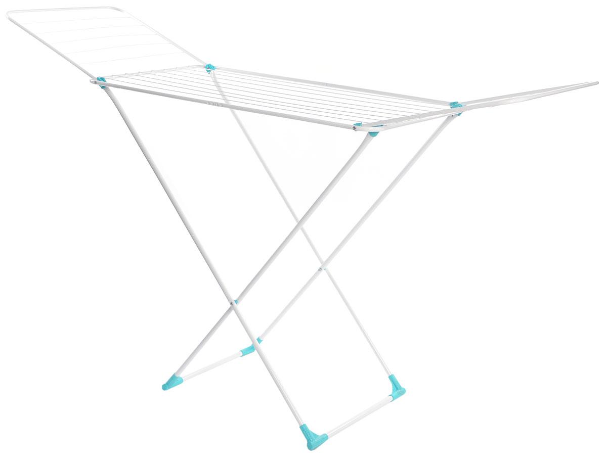 Сушилка для белья Nika, напольная, цвет: белый, 180 х 108 х 54 смСБ1бНапольная сушилка для белья Nika проста и удобна в использовании, компактно складывается, экономя место в вашей квартире. Сушилку можно использовать на балконе или дома. Сушилка оснащена складными створками для сушки одежды во всю длину, а также имеет специальные пластиковые крепления в основе стоек, которые не царапают пол. Размер сушилки в разложенном виде: 180 х 108 х 54 см. Размер сушилки в сложенном виде: 130 х 54 х 2,5 см. Длина сушильного полотна: 18 м.