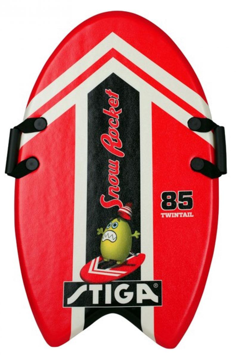 Ледянка Stiga Snowrocket 85, цвет: красный. 75-5500-3575-5500-35Снеголет Snowrocket 85, – легкая и быстрая доска для катания по снегу. Изготовлена из легкой высококачественной EPE пены. Материал: HDPE пластик Размер: Длина 85 см Цвет: Красный Вес: 680 г