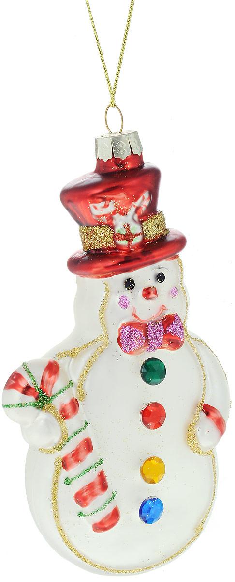 Украшение новогоднее подвесное Winter Wings Снеговик, 7 х 3 х 13 смN07869Украшение Winter Wings Снеговик прекрасно подойдет для праздничного декора новогодней ели. Изделие выполнено из высококачественного стекла и украшено блестками. Для удобного размещения на елке предусмотрена текстильная петелька. Елочная игрушка - символ Нового года. Она несет в себе волшебство и красоту праздника. Создайте в своем доме атмосферу веселья и радости, украшая новогоднюю елку нарядными игрушками, которые будут из года в год накапливать теплоту воспоминаний.
