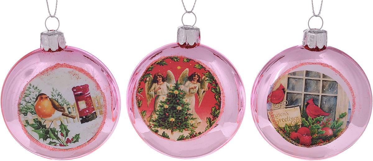 Набор елочных украшений Winter Wings Открытки, 3 штN07747_розовый, голубойНабор Winter Wings Открытки отлично подойдет для декора праздничной ели. В наборе 3 новогодних елочных игрушки, выполненные из стекла. Игрушки оснащены петельками для подвешивания. Елочная игрушка - символ Нового года. Она несет в себе волшебство и красоту праздника. Создайте в своем доме атмосферу веселья и радости, украшая новогоднюю елку нарядными игрушками, которые будут из года в год накапливать теплоту воспоминаний. Диаметр: 7 см.