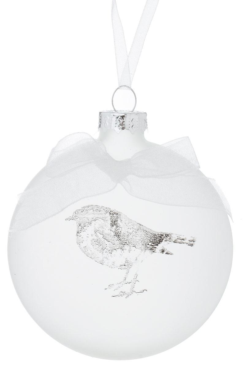 Украшение новогоднее подвесное Winter Wings Птичка, 7 х 2,5 х 7 смN07970Украшение Winter Wings Птичка прекрасно подойдет для праздничного декора новогодней ели. Изделие выполнено из матового стекла с изображением птички и украшено текстильным бантиком. Для удобного размещения на елке предусмотрена петелька. Елочная игрушка - символ Нового года. Она несет в себе волшебство и красоту праздника. Создайте в своем доме атмосферу веселья и радости, украшая новогоднюю елку нарядными игрушками, которые будут из года в год накапливать теплоту воспоминаний.