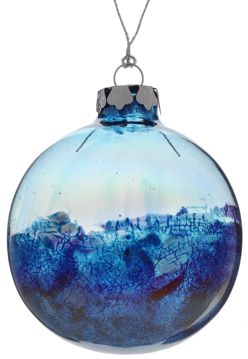 Украшение новогоднее подвесное Winter Wings Шар, диаметр 8 см. N079104N079104Украшение Winter Wings Шар прекрасно подойдет для праздничного декора новогодней ели. Изделие выполнено из высококачественного стекла. Для удобного размещения на елке предусмотрена текстильная петелька. Елочная игрушка - символ Нового года. Она несет в себе волшебство и красоту праздника. Создайте в своем доме атмосферу веселья и радости, украшая новогоднюю елку нарядными игрушками, которые будут из года в год накапливать теплоту воспоминаний.