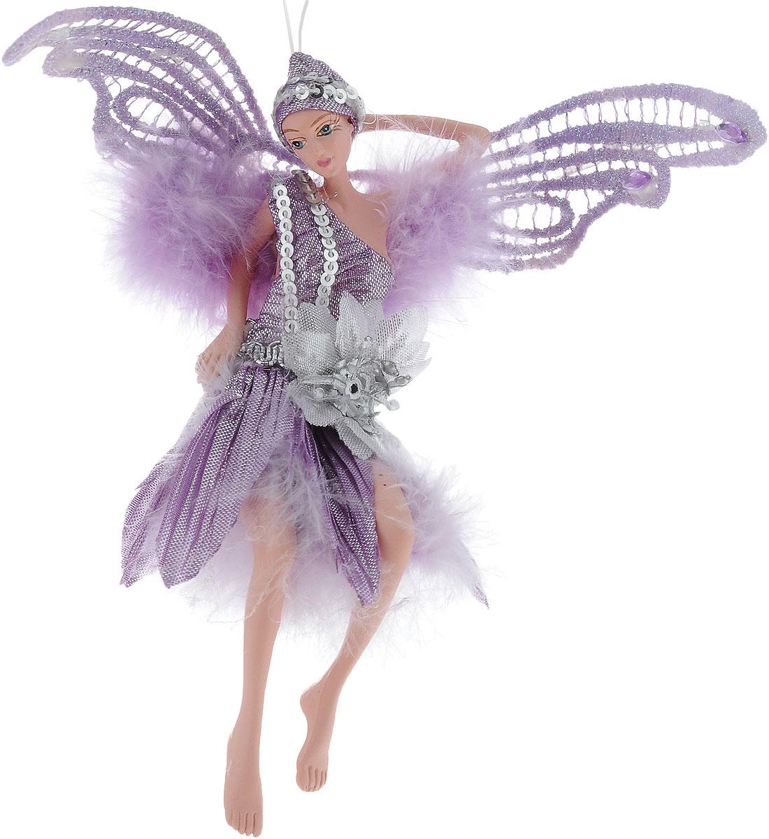 Украшение декоративное подвесное Winter Wings Фея, высота 15 смN181722Новогоднее подвесное украшение Winter Wings Фея выполнено из полирезины в виде очаровательной феи с крыльями. Изделие оформлено перьями и блестками. С помощью специальной петельки украшение можно повесить в любом понравившемся вам месте. Но, конечно, удачнее всего оно будет смотреться на праздничной елке. Елочная игрушка - символ Нового года. Она несет в себе волшебство и красоту праздника. Создайте в своем доме атмосферу веселья и радости, украшая новогоднюю елку нарядными игрушками, которые будут из года в год накапливать теплоту воспоминаний. Размер: 12 х 7 см. Высота: 15 см.