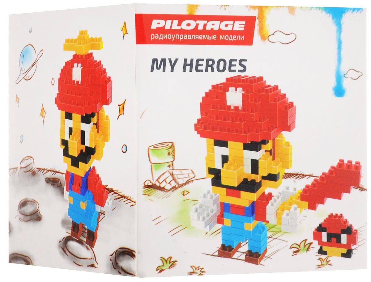 Pilotage Конструктор Mario 3 в 1RC18330Конструкторы серии My Heroes представляют новый принцип конструирования различных фигурок и моделей, которые собираются без использования клея из маленьких разноцветных кубиков. Такой набор не только предоставит возможность поставить на полку необычную фигурку или фантастическую модель, но и развить навыки мелкой моторики и внимательность. Теперь у вас появится возможность собрать любимого героя в популярном пиксельном (8-битном) стиле. Конструктор Pilotage Mario включает в себя 282 элемента для сборки и подробную инструкцию.
