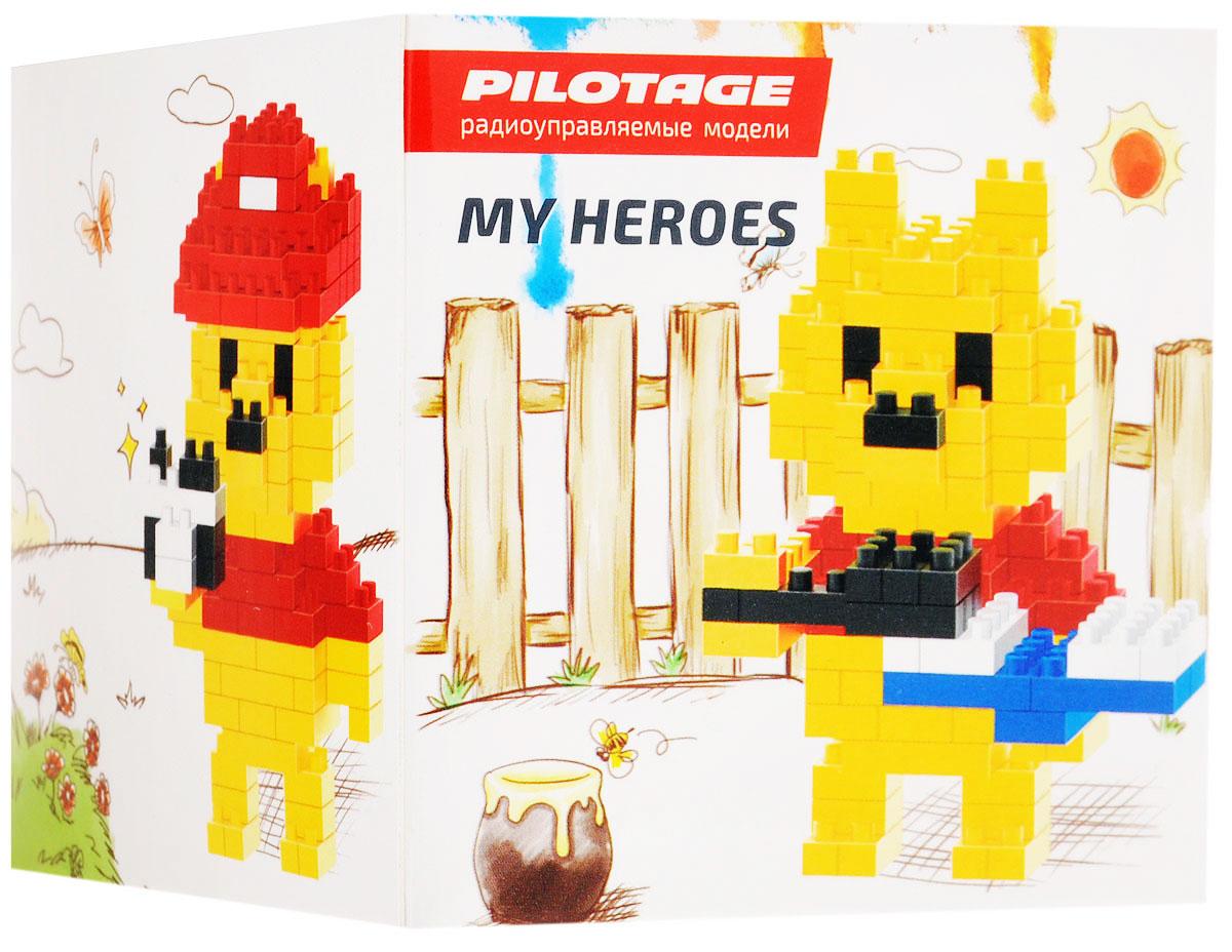 Pilotage Конструктор Pooh bear 3 в 1RC18332Конструктор Pilotage Pooh bear. 3 в 1 из серии «My Heroes» представляет новый принцип конструирования различных фигурок и моделей, которые собираются без использования клея из маленьких разноцветных кубиков. Такой набор не только предоставит возможность поставить на полочку необычную фигурку или фантастическую модель, но и развить навыки мелкой моторики и внимательность. В комплекте с конструктором идет подробная и понятная инструкция для сборки.Теперь у вас есть возможность собрать любимого героя в популярном пиксельном (8-битном) стиле.