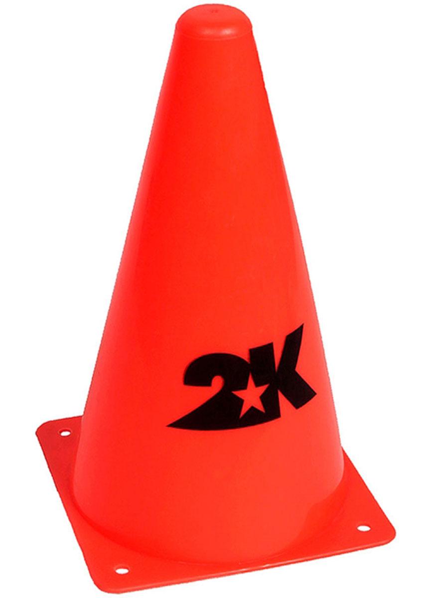 Конус разметочный 2K Sport, цвет: оранжевый, высота 30 см. 127830127830Тренировочный конус высотой 30 см, для разметки газона.