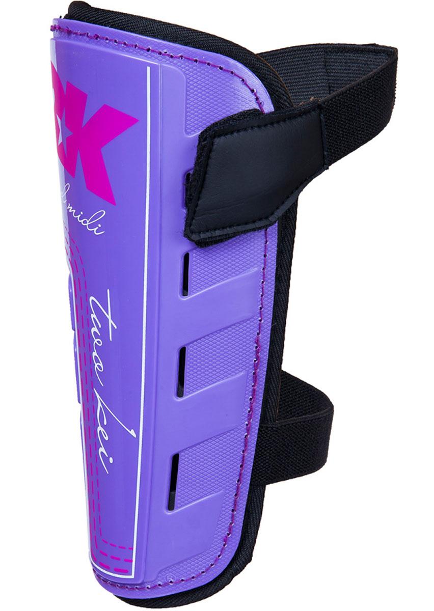 Щитки футбольные 2K Sport Guard, цвет: фиолетовый, черный, розовый. 127324. Размер S127324Футбольные щитки профессионального уровня. Материал верха: 100% полипропилен. Прочная передняя панель. Двухслойная текстильная подкладка с перфорациями для лучшей вентиляции. Фиксируется на ноге с помощью затяжных ремешков на липучках в верхней и нижней части.