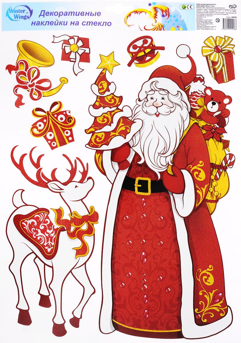 Украшение новогоднее оконное Winter Wings Новогодние герои, 7 шт. N09356_оленьN09356_оленьНовогоднее оконное украшение Winter Wings Новогодние герои поможет украсить дом к предстоящим праздникам. Наклейки изготовлены из ПВХ. С помощью этих украшений вы сможете оживить интерьер по своему вкусу, наклеить их на окно, на зеркало или на дверь. Новогодние украшения всегда несут в себе волшебство и красоту праздника. Создайте в своем доме атмосферу тепла, веселья и радости, украшая его всей семьей. Размер листа: 41 х 29 см. Количество наклеек на листе: 7 шт. Размер самой большой наклейки: 35 х 18 см. Размер самой маленькой наклейки: 4 х 5 см.