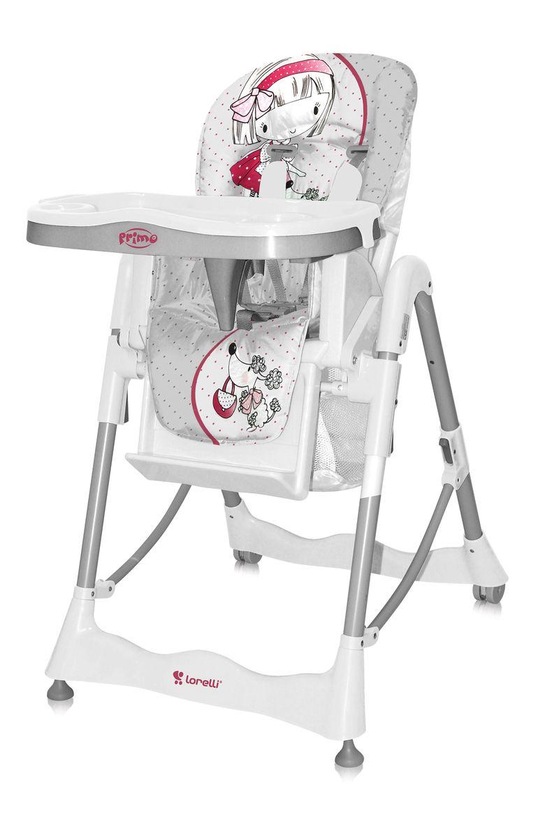 Lorelli Стульчик для кормления Primo цвет серый3800151933731Стульчик для кормления Primo Bertoni - комфортный, функциональный и практичный, компактен в сложенном состоянии, его удобно брать с собой в путешествия. Стульчик безопасный для малыша, ведь он оборудован ремнями безопасности и перегородкой для ножек, которые надежно защитят ребеночка от выпадания из стульчика. Спинка сидения регулируется по углу наклону, она мягкая и удобная, но в тоже время имеет жесткий и устойчивый каркас, поддерживающий спинку ребеночка. Стульчик в зависимости от возраста ребенка, регулируется по высоте в пяти положениях, съемный столик имеет поднос с углублением для чашки или бутылочки. Характеристики: Стул для кормления предусмотрен для деток возрастом – от 6 месяцев до 3 лет. Материал изготовления – металл с ударостойким пластиком. Конструкцией предусмотрены два съемных подноса; поверхность столиков выполнена с фигурами для установки тарелок, салфетниц и чашек. Сидение регулируется по высоте в 5 положениях. Наклон спинки осуществляется в трех уровнях. Имеется...