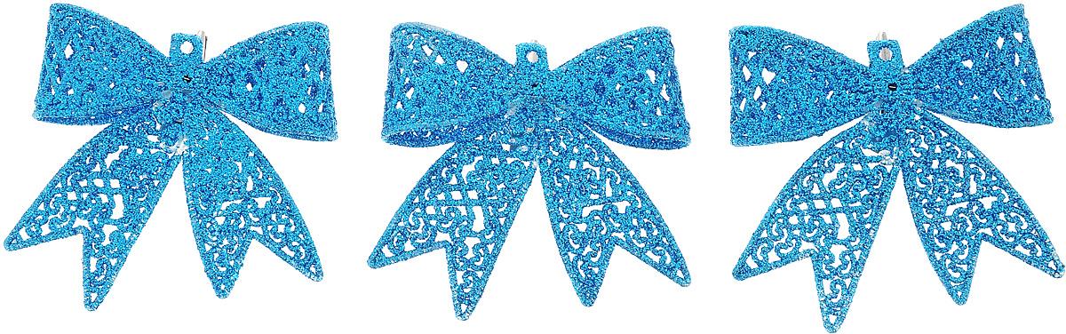 Набор новогодних подвесных украшений Winter Wings Бантики, цвет: синий, 3 штN181719_синийНабор Winter Wings Бантики состоит из 3 подвесных украшений, выполненных из пластика. Оригинальные новогодние украшения прекрасно подойдут для праздничного декора дома и новогодней ели. С помощью специального отверстия или застежки-крокодильчика их можно повесить в любом понравившемся вам месте. Но, конечно, удачнее всего такие игрушки будут смотреться на праздничной елке. Елочная игрушка - символ Нового года и Рождества. Она несет в себе волшебство и красоту праздника. Создайте в своем доме атмосферу веселья и радости, украшая новогоднюю елку нарядными игрушками, которые будут из года в год накапливать теплоту воспоминаний.