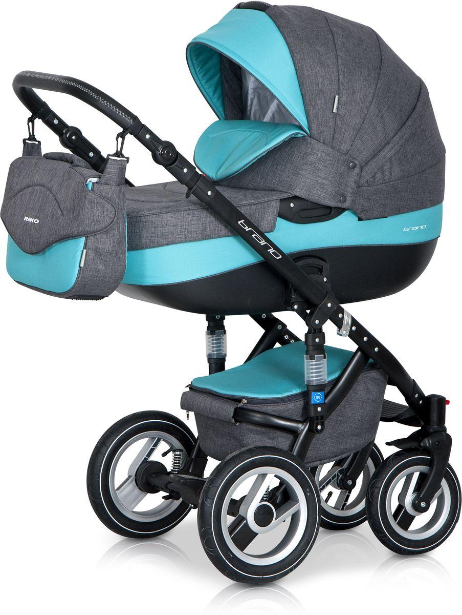Riko Коляска 2 в 1 Brano цвет серый бирюзовый5901812682710Детская коляска BRANO от Польского производителя RIKO предназначена для детей с рождения и до 3-х лет. Модная, удобная и функциональная – новая модель в современном, стильном дизайне. Коляска BRANO обеспечит крохе самые лучшие условия для увлекательных прогулок и комфортного полноценного сна во время прогулок на свежем воздухе. Малыш будет прекрасно себя чувствовать в просторной люльке, а комфортное прогулочное сиденье для подросшего ребенка предоставит наилучшие условия для изучения окружающего мира. Эта модель коляски на алюминиевой раме обладает отличной проходимостью за счет легкого хода и надувных колес. Коляска маневренная благодаря поворотным передним колесам. Современная система амортизации колес позволяет легко преодолевать любые препятствия на прогулке, и при этом сохраняется мягкость хода, обеспечивая спокойный сон вашего малыша. Коляска BRANO укомплектована просторной и комфортной люлькой и прогулочным блоком, которые легко устанавливаются на раму как по ходу, так и...