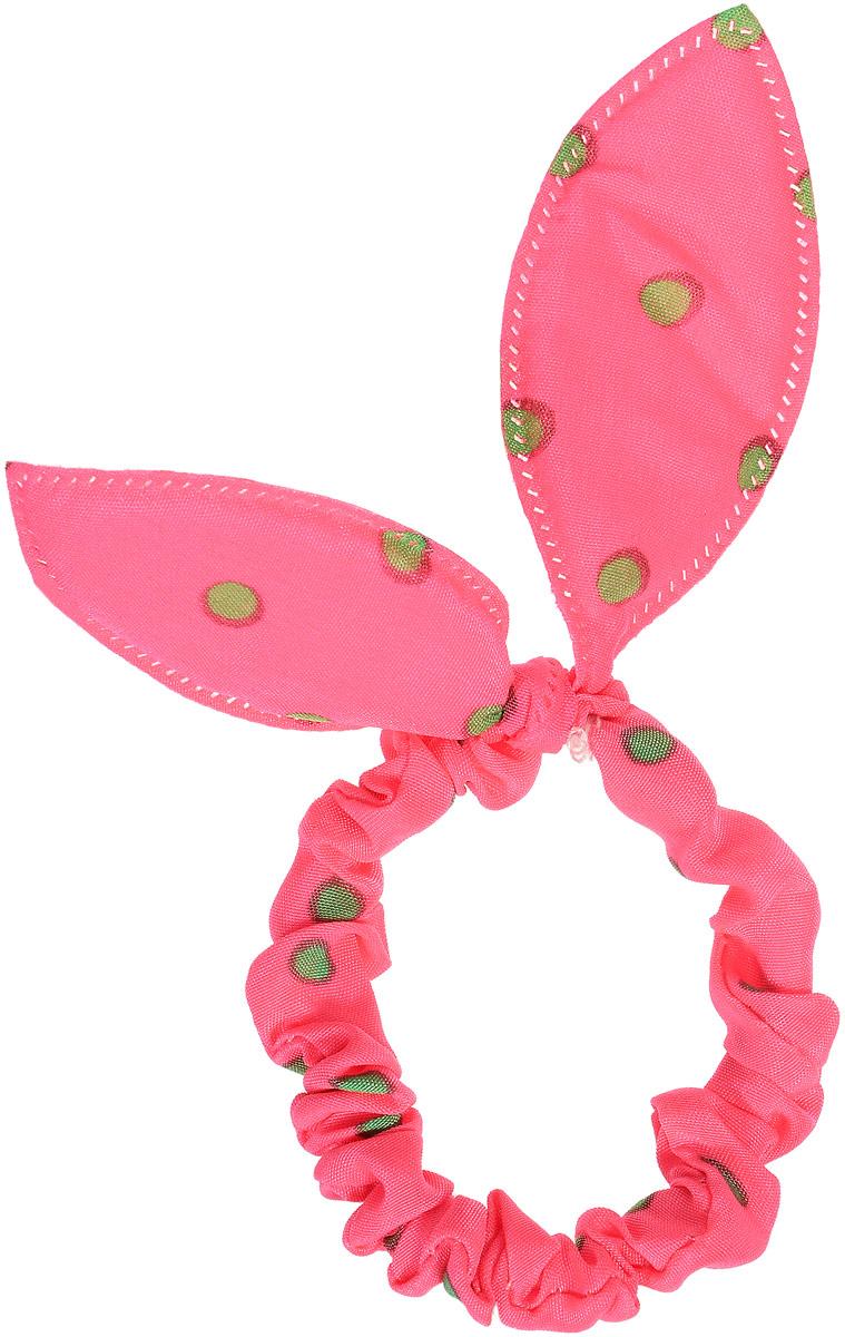 Magic Leverage Резинка в горошек, цвет: розовый, зеленыйрг_розовый, зеленыйСтильная и удобная резинка для волос. Диаметр 5 см.