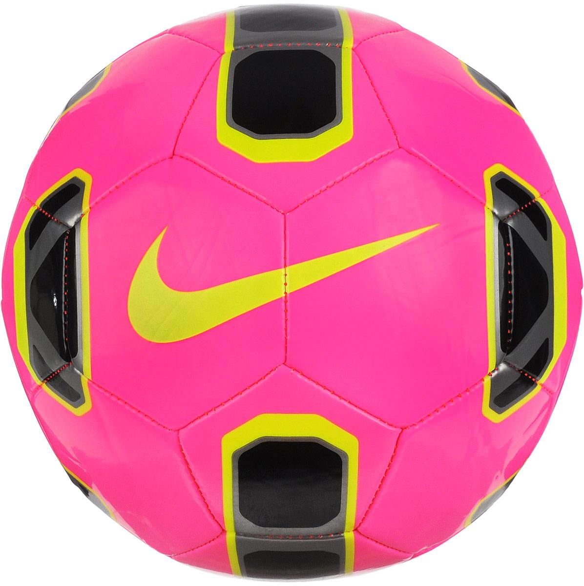 Мяч футбольный Nike Stadium, цвет: розовый, желтый, черный. Размер 5SC2942-639Футбольный мяч Nike Stadium применяется для тренировок или любительских игр. Традиционная конструкция из 32 панелей обеспечивает правильную и точную траекторию полета. Машинная строчка на панелях из синтетического материала гарантирует прочность и превосходное касание. Усиленная резиновая камера позволяет сохранить форму мяча. УВАЖЕМЫЕ КЛИЕНТЫ! Обращаем ваше внимание на тот факт, что мяч поставляется в сдутом виде. Насос в комплект не входит.