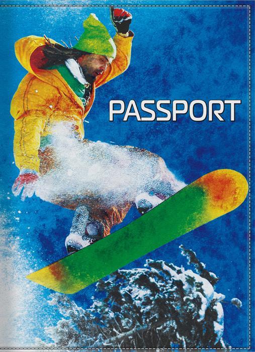 Обложка для паспорта мужская КвикДекор Сноубордист, цвет: синий. DC-15-0031-1DC-15-0031-1Оригинальная, яркая и качественная обложка для паспорта КвикДекор Сноубордист изготовлена из качественной экокожи. Подходит для всех видов паспортов, как общегражданских, так и заграничных. Изображение устойчиво к стиранию. Изделие раскладывается пополам. Яркий современный дизайн, который является основной фишкой данной модели, будет радовать глаз.