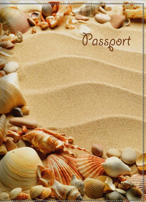 Обложка для паспорта женская КвикДекор Песок и ракушки, цвет: бежевый. DC-15-0055-1DC-15-0055-1Оригинальная, яркая и качественная обложка для паспорта КвикДекор Песок и ракушки изготовлена из качественной экокожи. Подходит для всех видов паспортов, как общегражданских, так и заграничных. Изображение устойчиво к стиранию. Изделие раскладывается пополам. Яркий современный дизайн, который является основной фишкой данной модели, будет радовать глаз.