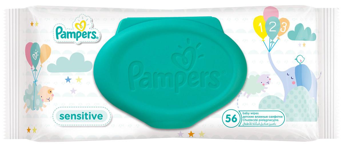 Pampers Влажные салфетки детские Sensitive 56 штPA-81448534Каждый малыш нуждается в нежном очищении, именно поэтому влажные салфетки Pampers Sensitive позволяют бережно заботиться о детской коже. Благодаря своей уникальной мягкой текстуре SoftGrip и дополнительному увлажнению, они очищают кожу малыша еще нежнее, чем раньше, поддерживая естественный уровень pH. Новые салфетки стали на 15% плотнее, чем Pampers Baby Fresh. Чтобы мамам было удобно открывать и закрывать упаковку, а салфетки оставались влажными как можно дольше, добавлена специальная крышечка для многоразового пользования. Не бойтесь сюрпризов с Pampers Sensitive! В упаковке 56 салфеток.