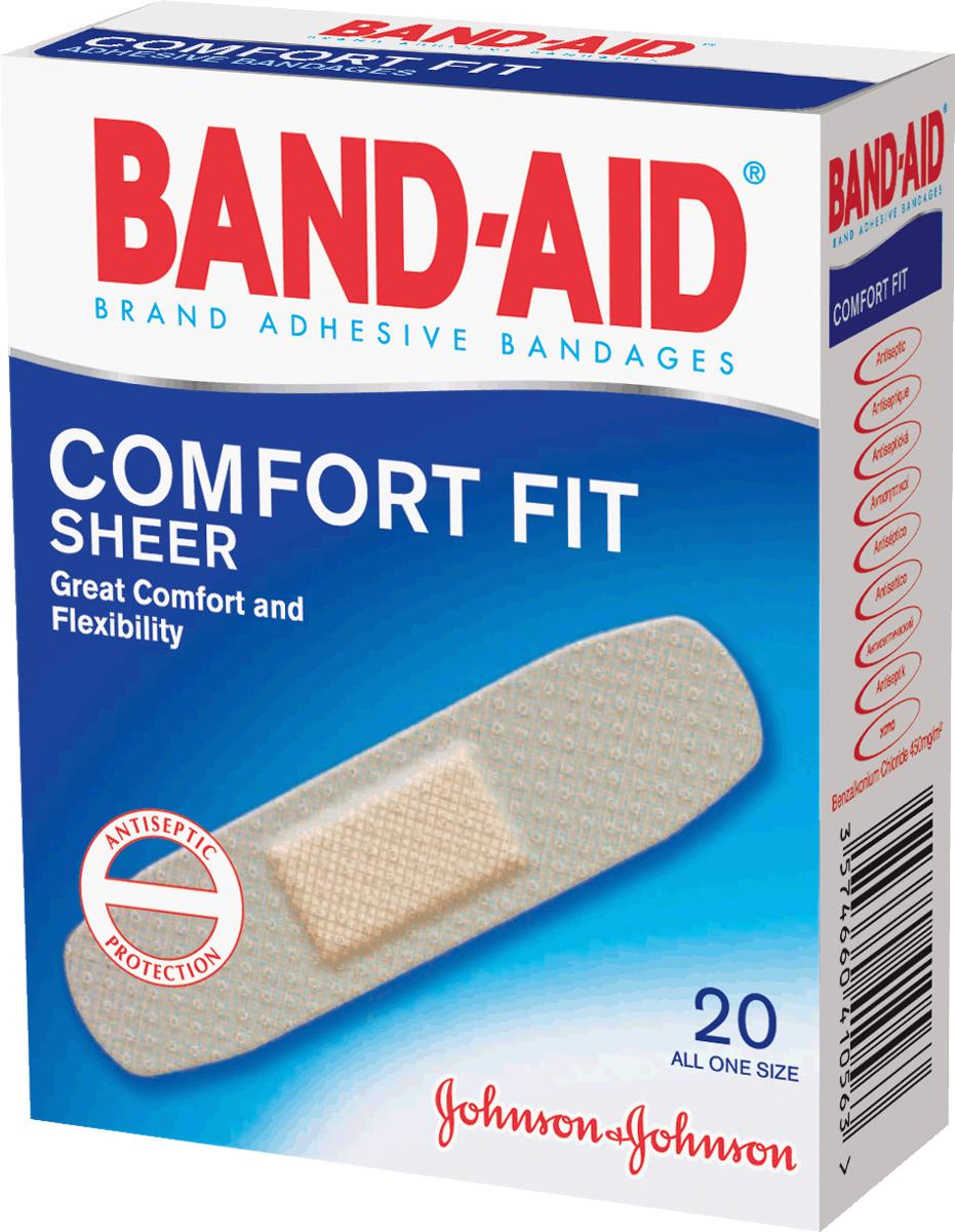 BAND-AID Пластырь Антисептический Абсолютный Комфорт 20шт
