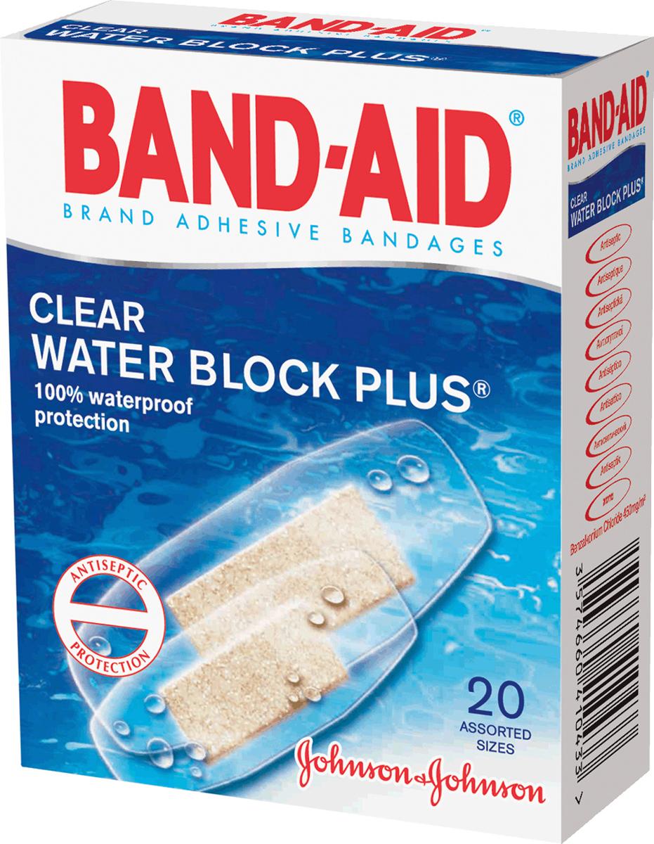 BAND-AID Пластырь Антисептический Водостойкий 20шт