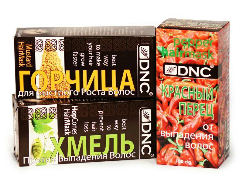 DNC Набор Перец, Горчица и Хмель для Волос (3 шт по 100г)