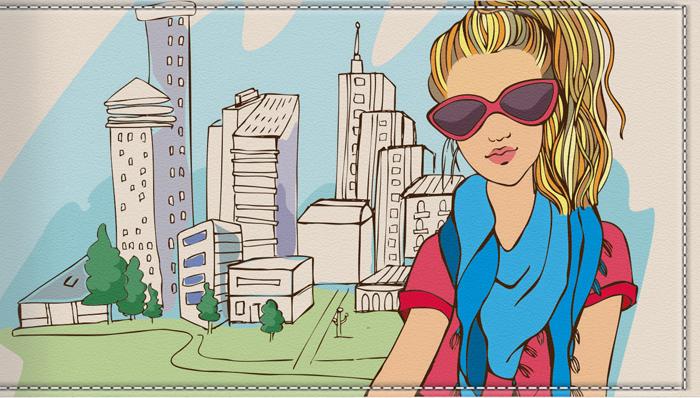 Визитница-картхолдер женская КвикДекор Девушка в городе, цвет: мультиколор. DC-15-0070-1-18DC-15-0070-1-18Дизайнер Ольга Парфёнова. Оригинальный, яркий, качественный аксессуар для визиток, дисконтных и кредитных карт с 18 кармашками. Удобная выемка на пластиковом кармане позволяет быстро и легко достать необходимую карту. Изображение устойчиво к стиранию. При бережном обращении визитница прослужит долгие годы. Лучший подарок и стильный аксессуар.