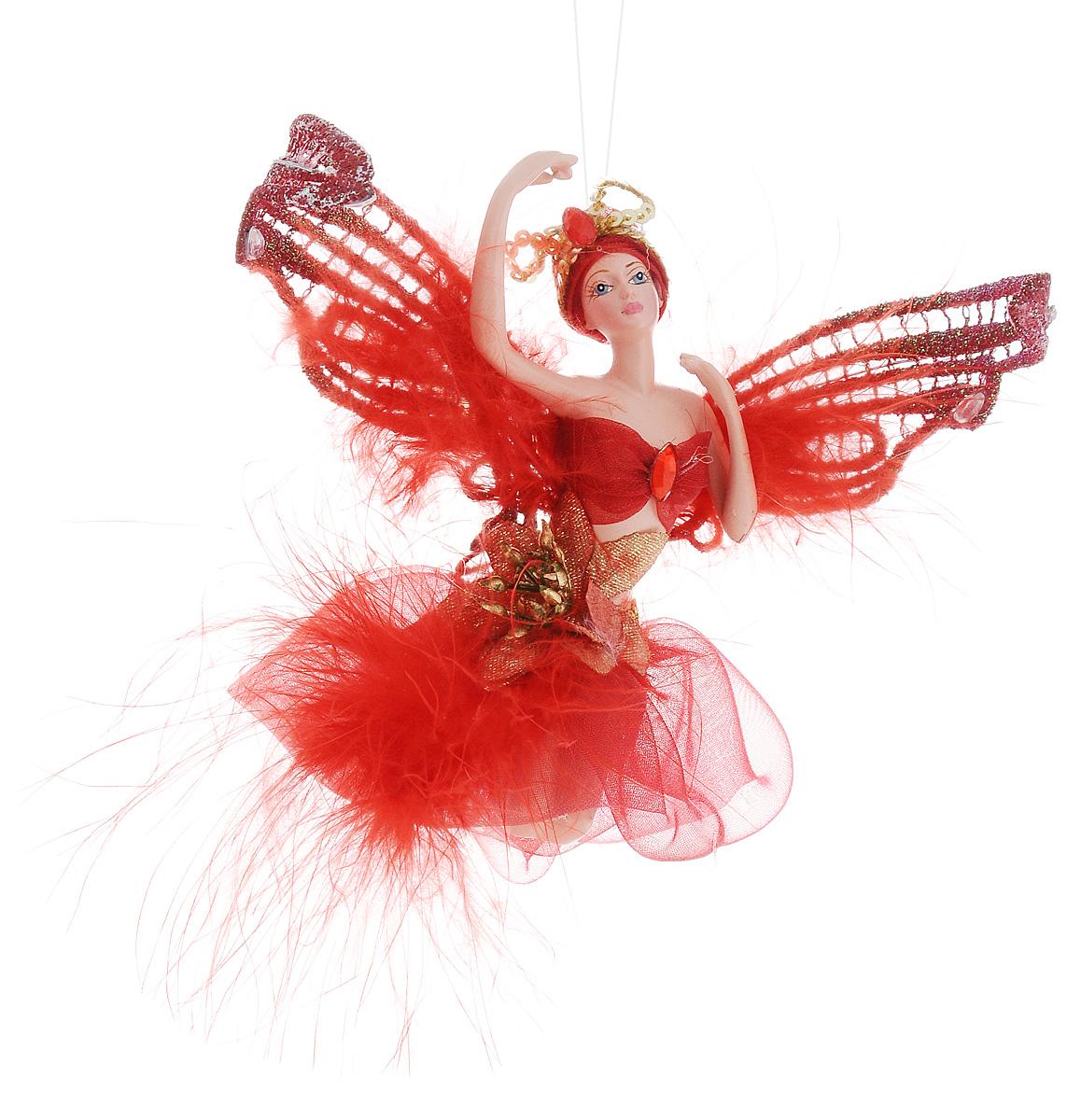 Украшение декоративное подвесное Winter Wings Фея, высота 15 см. N181724N181724Новогоднее подвесное украшение Winter Wings Фея выполнено из полирезина в виде очаровательной феи с крыльями. Изделие оформлено перьями и стразами. С помощью специальной петельки украшение можно повесить в любом понравившемся вам месте. Но, конечно, удачнее всего оно будет смотреться на праздничной елке. Елочная игрушка - символ Нового года. Она несет в себе волшебство и красоту праздника. Создайте в своем доме атмосферу веселья и радости, украшая новогоднюю елку нарядными игрушками, которые будут из года в год накапливать теплоту воспоминаний. Размер: 19,5 х 4,5 см. Высота: 15 см.