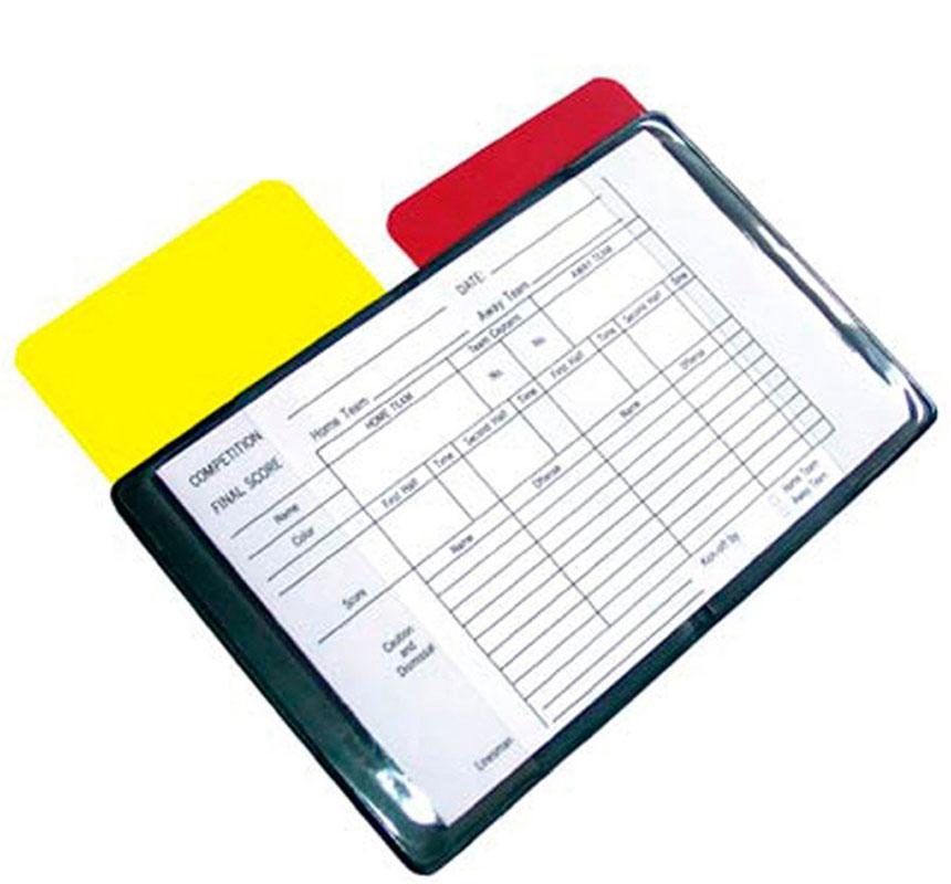 Блокнот судейский 2K Sport, цвет: черный. 128502128502Судейский блокнот на базе планшета для заполнения послематчевого протокола. Помимо блокнота, в комплект входят желтая и красная дисциплинарные карточки. Размер в разложенном виде: 16,5х11,5 см. Размер карточки: 7,5х11,5 см.