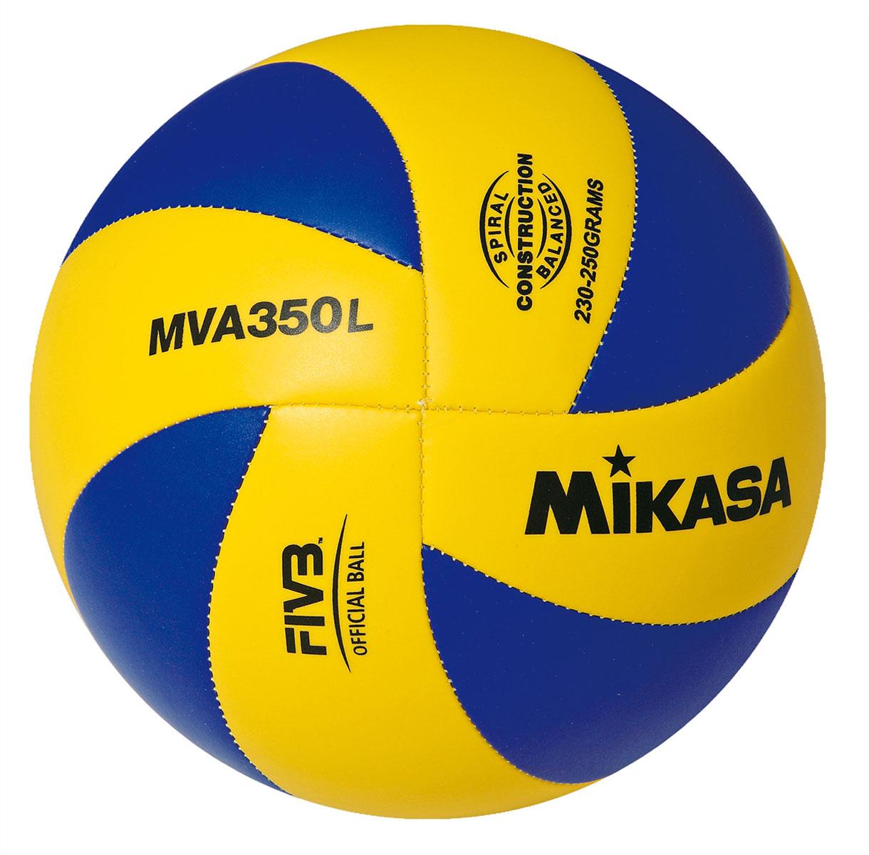 Мяч волейбольный Mikasa MVA 350 L. Размер 5УТ-00009433Оптимальный подходит для поставок на тендеры. MVA 350 L это восьми панельный аналог мяча MGV 260 . Логотип FIVB Official - официальный стандарт FIVB для волейбольных мячей.