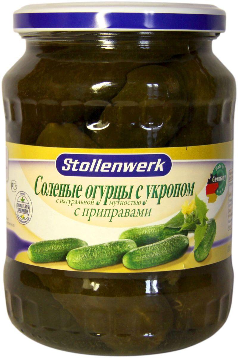 Stollenwerk огурцы соленые с укропом, 720 млСТо 80654Огурчики Stollenwerk отбираются по одному размеру. Имеют великолепный вкус и хрусткость.