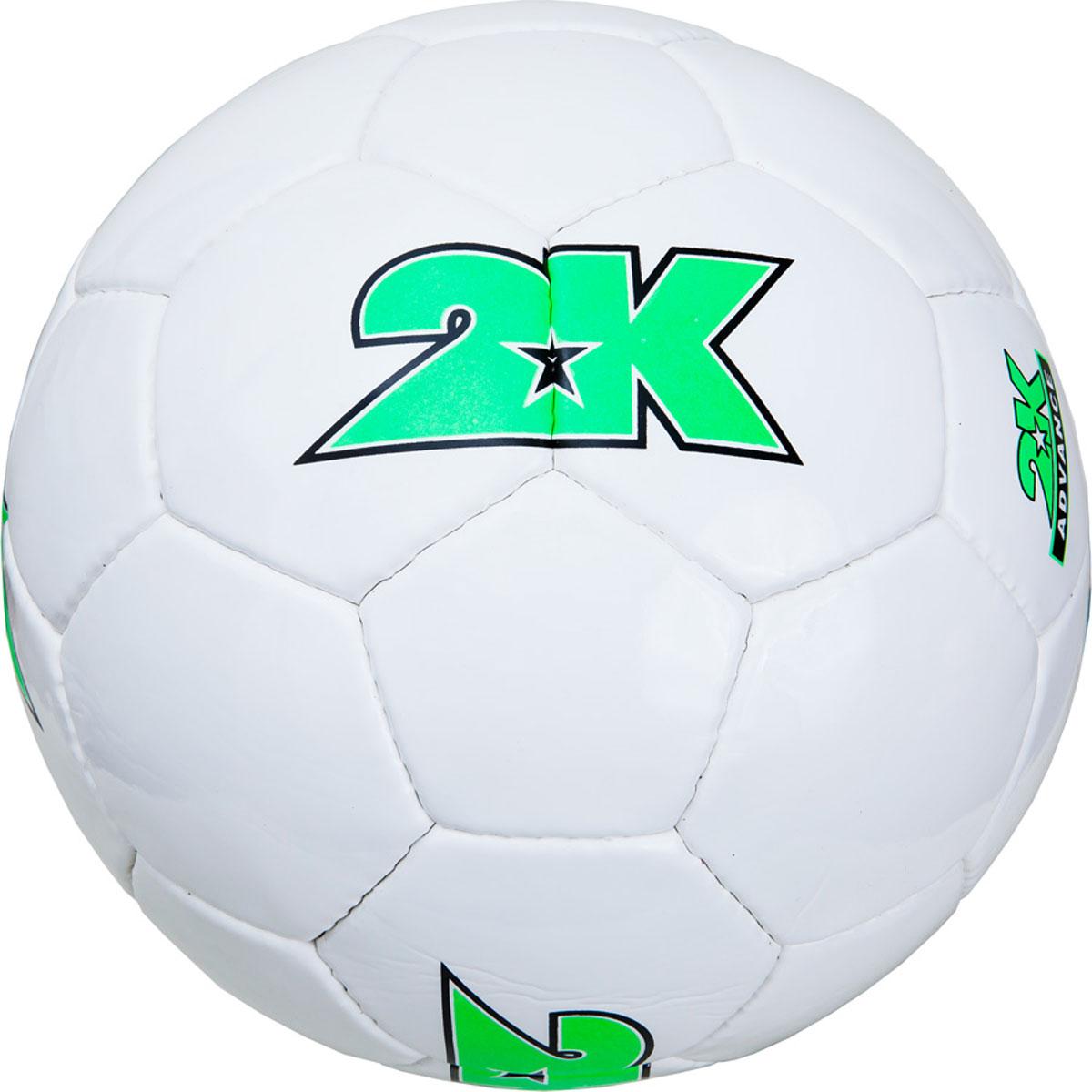 Мяч футбольный 2K Sport Advance, цвет: белый, зеленый. 127048. Размер 5