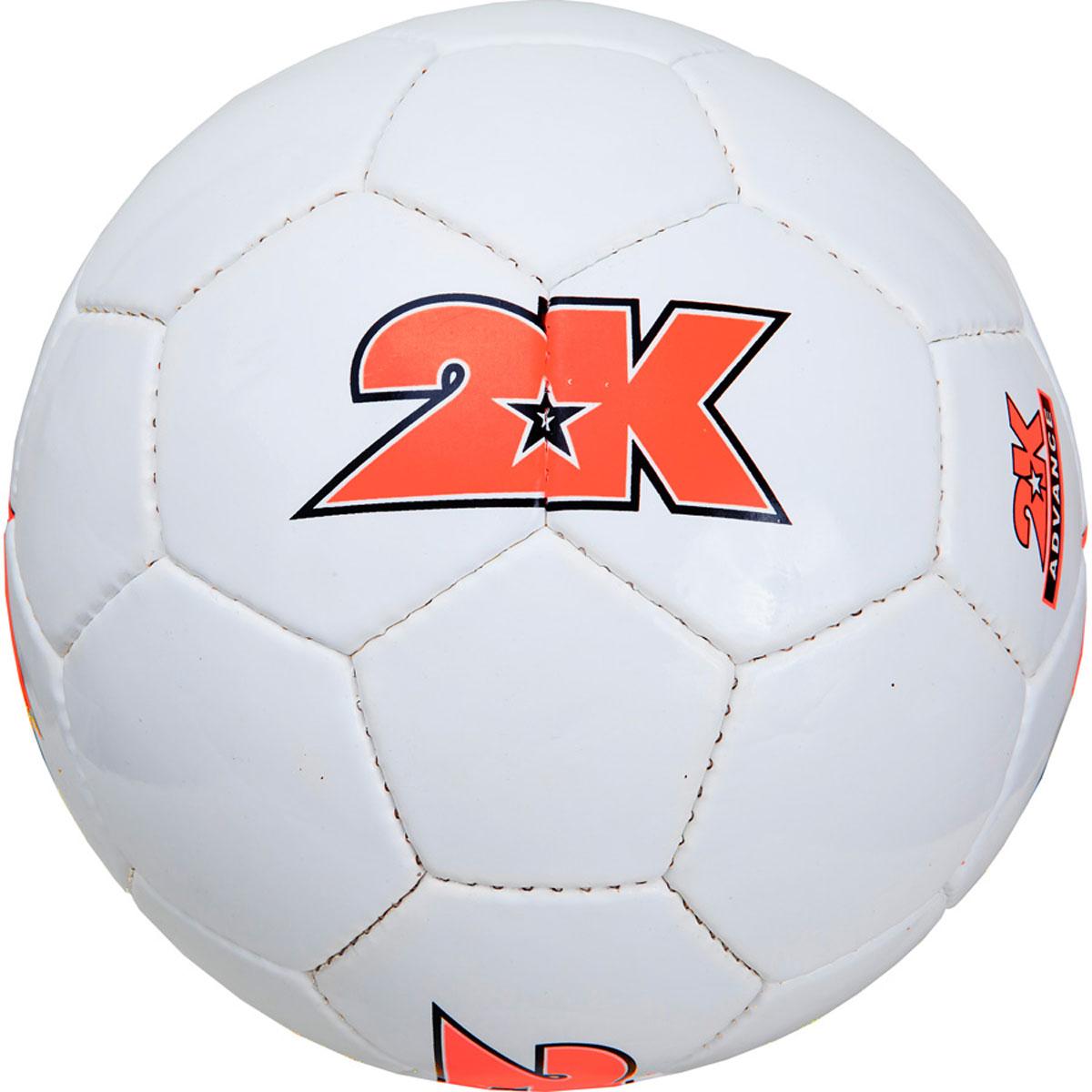 Мяч футбольный 2K Sport Advance, цвет: белый, оранжевый. Размер 4127048Любительский футбольный мяч 2K Sport Advance изготовлен из полиуретана. Бесшовная камера выполнена из натурального латекса. Сшивка производилась вручную. Швы проклеены для герметизации.