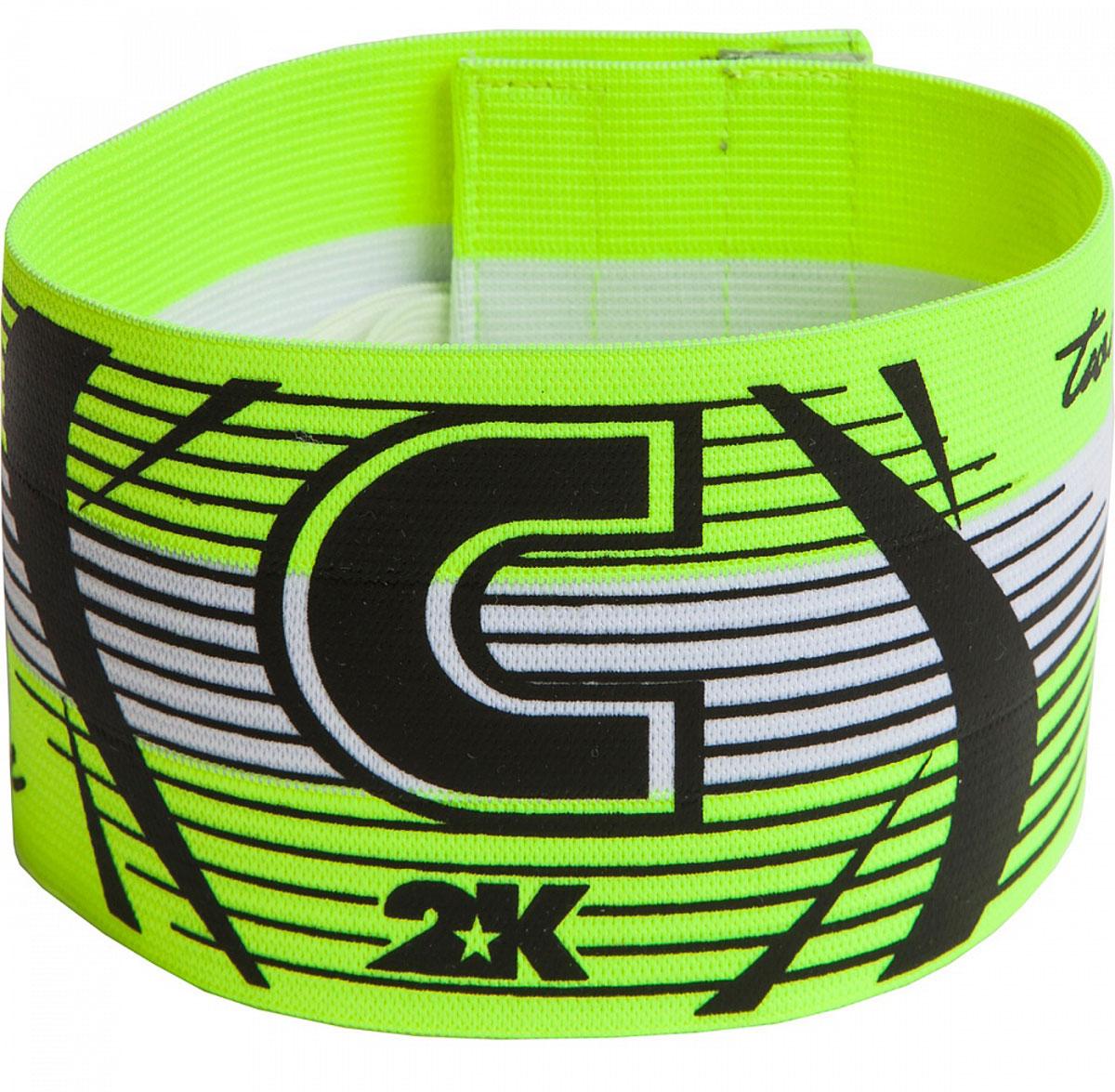 Повязка капитанская 2K Sport Captain, цвет: светло-зеленый, черный. 126317