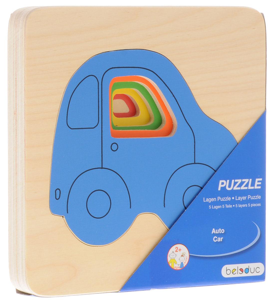 Beleduc Пазл для малышей Машинки10142Пазл для малышей Beleduc Машинки состоит из 4 разноцветных машинок, отличающихся по размеру. У каждой машинки имеется свое место в рамке. Задача ребенка - сложить машинки по возрастанию. Игра способствует развитию логического мышления, произвольного внимания, учит различать предметы по цвету и размеру; развивает мелкую моторику рук. Проговаривая последовательность сборки пазла от малого к большому, ребенок через игру получает полное представление о цвете, форме, размере, объеме и фактуре. Собирание пазлов тренирует пространственное мышление, умение выстраивать логические цепочки, что важно в школьном и взрослом возрасте.
