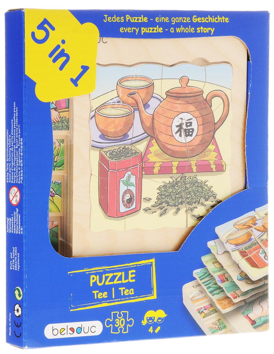 Beleduc Пазл для малышей Чай 5 в 117057С помощью пазла Beleduc Чай. 5 в 1 дети узнают, что такое чай и как он растет. Каждый пазл в этом наборе - целая история. Задача ребенка - собрать не только части каждого пазла, но и сложить слоями все пазлы в правильной последовательности. Пазл укладывается в 5 слоев. Собирание пазла развивает у ребенка мелкую моторику рук, тренирует наблюдательность, логическое мышление, знакомит с окружающим миром, с цветом и разнообразными формами, учит усидчивости и терпению, аккуратности и вниманию.