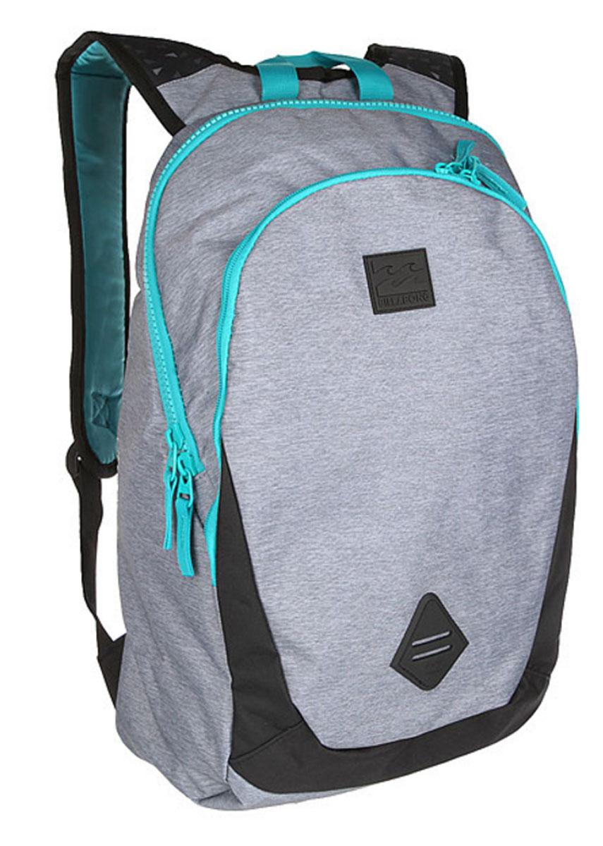 Рюкзак городской мужской Billabong Trace Pack, цвет: серый, вереск, 20 л. Z5BP02Z5BP02Минималистичный рюкзак с отделением под ноутбук и большим основным отделением.